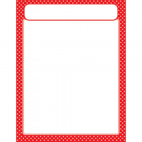 Polka Dots Red Learning Chart