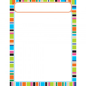 Stripe-tacular Party Time Learning Chart