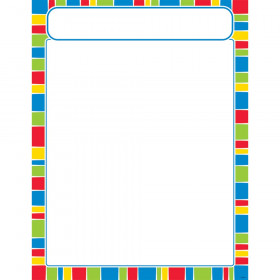 Stripe-tacular Cheerful Learning Chart