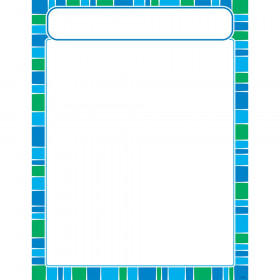 Stripe-tacular Cool Blue Learning Chart
