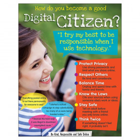 "Digital Citizenship (Secondary) Learning Chart, 17"" x 22"""