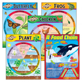 Life Cycles Learning Charts Combo Pack, Set of 5