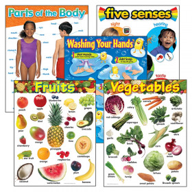 Healthy Living Learning Charts Combo Pack, Set of 5
