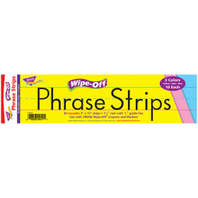 12-Inch Multicolor Wipe-Off® Phrase Strips