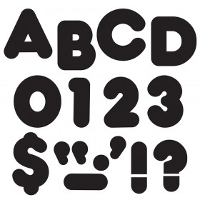 "Black 2"" Casual Uppercase Ready Letters"