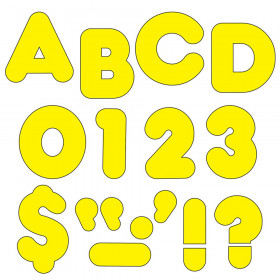 Yellow 2-Inch Casual Uppercase Ready Letters®