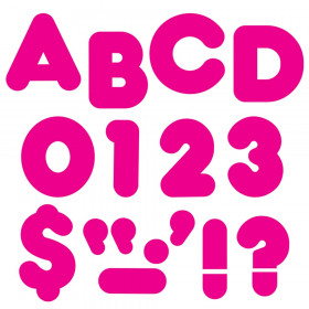 """Deep Pink 2"""" Casual Uppercase Ready Letters"""