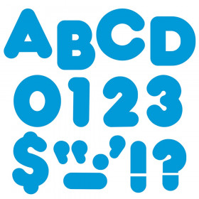 """Blue 4"""" Casual Uppercase Ready Letters"""