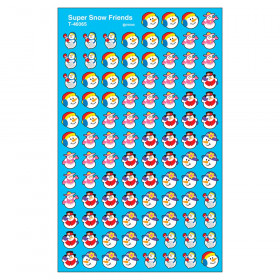 Super Snow Friends superShapes Stickers, 800 ct
