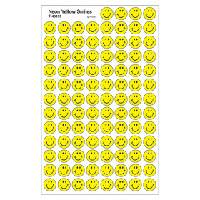 Neon Yellow Smiles superSpots® Stickers