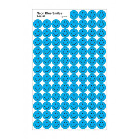 Neon Blue Smiles superSpots® Stickers