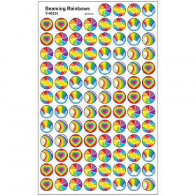 Beaming Rainbows superSpots® Stickers