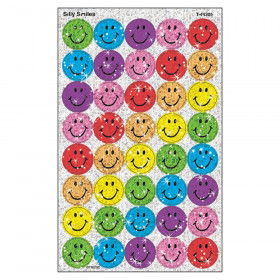 Silly Smiles superSpots Stickers-Sparkle, 160 ct