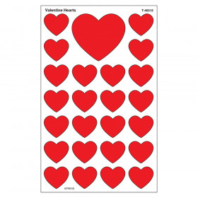 Valentine Hearts superShapes Stickers-Large, 200 ct