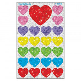 Sparkle Hearts superShapes Stickers – Sparkle