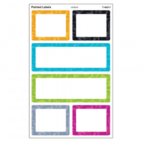 Painted Labels Supershapes Stickers Large Color Harmony