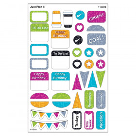 Color Harmony Just Plan It superShapes Stickers - Large, 304 Count