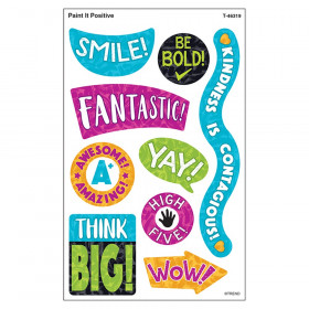 Color Harmony Paint It Positive superShapes Stickers - Large, 72 Count