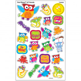 Owl-Stars!® & Friends superShapes Stickers – Large