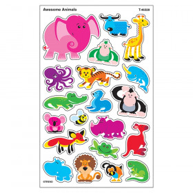 Awesome Animals superShapes Stickers-Large, 160 ct