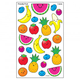 Friendly Fruit superShapes Stickers-Large, 192 ct