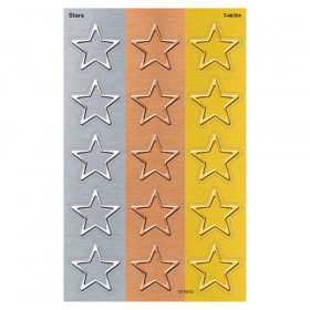 I  Metal Stars superShapes Stickers - Large, 120 Count
