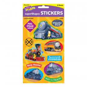 Locomotivate! Large superShapes Stickers, 88 ct.