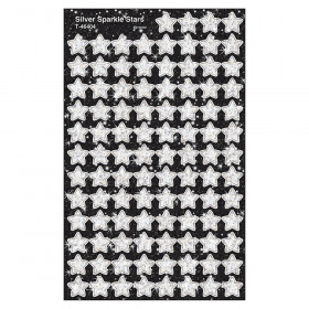 Silver Sparkle Stars superShapes Stickers-Sparkle, 400 ct