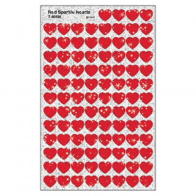 Red Hearts superShapes Stickers – Sparkle