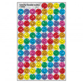 Colorful Smiles superSpots Stickers-Sparkle, 400 ct