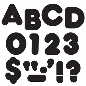 "Black 4"" Casual Uppercase Ready Letters"