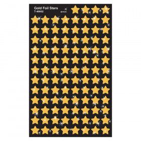 Gold Foil Stars superShapes Stickers, 400 ct
