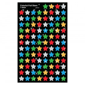 Colorful Stars superShapes Stickers – Foil