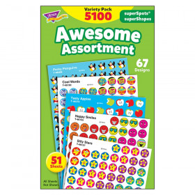 Awesome Assortment superSpots/superShapes Variety Pack - 5100 ct