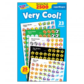 Very Cool! superShapes Stickers Variety Pack, 2500 ct