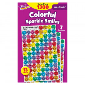 Colorful Sparkle Smiles superSpots® Stickers Value Pack