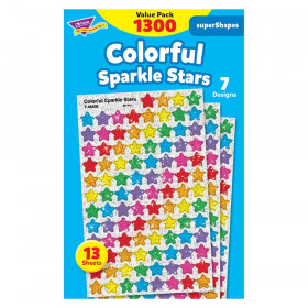 Colorful Sparkle Stars superShapes Stickers Value Pack