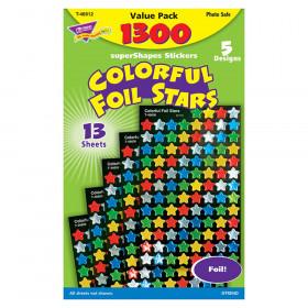 Colorful Foil Stars superShapes Value Pack, 1300 ct