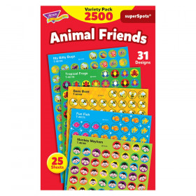 Animal Friends superSpots Stickers Variety Pack, 2500 ct