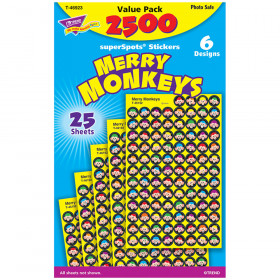 Merry Monkeys superSpots® Stickers Value Pack