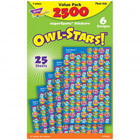 Owl-Stars!® superSpots® Stickers Value Pack