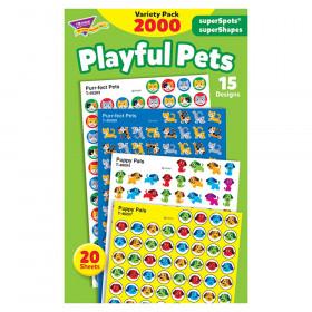 Playful Pets superSpots/superShapes VarPk, 2000 ct