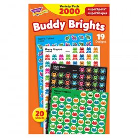 Buddy Brights superSpots/superShapes VarPk, 2000 ct