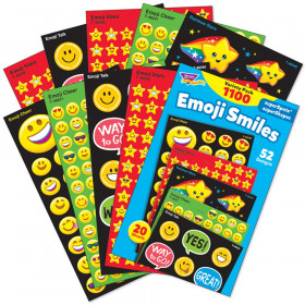 Emoji Smiles superShapes Stickers Variety Pack, 1100 ct.