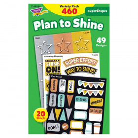 I  Metal Plan to Shine superShapes Stickers - Large, 460 Count