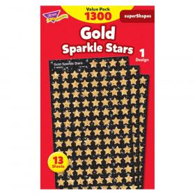 Gold Sparkle Stars superShapes Value Pack, 1300 ct