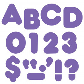 Purple 4-Inch Casual Uppercase Ready Letters®