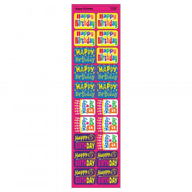 Happy Birthday Applause STICKERS, 100 ct.