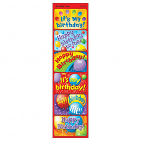 Birthday Time Large Applause STICKERS, 30 ct.