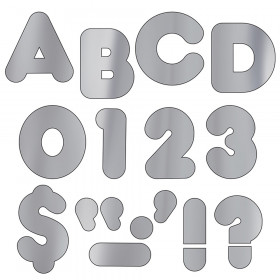 "Silver Metallic 4"" Casual UC Ready Letters"